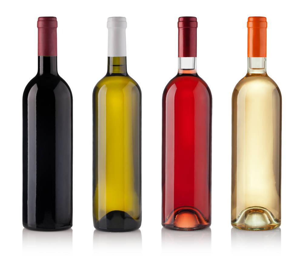 El vino mejor en botella de cristal